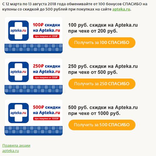 Сертификаты Аптека ру